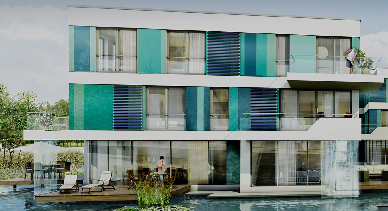 Projektvisualisierung WaterHouses, Hamburg | Instone Real Estate